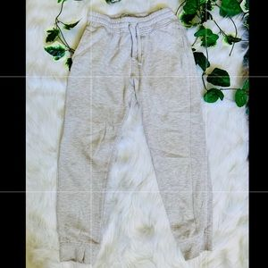 Youth White Joggers